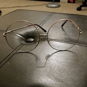 Extra large round frame glasses